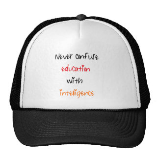 Education quote trucker hat