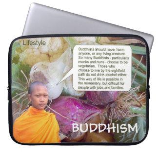 Education, Religion, Buddhist lifestyle Laptop Sleeves