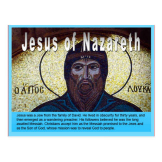 Education, Religion, Christian, Jesus of Nazareth Postcard