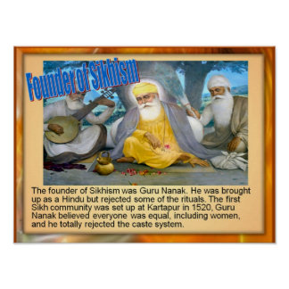 Education, Religion,Founder of Sikhism, Guru Nanak Poster