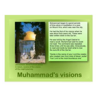 Education, Religion, Islam, Muhammad's visions Postcard