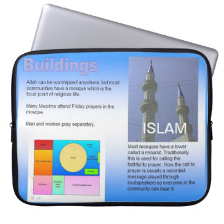 Education, Religion, Islam,  Muslim buildings Computer Sleeve