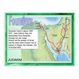 Education, Religion, Judaism, Founders Postcard