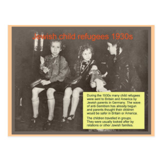 Education, Religion, Judaism, Jewish refugees 1930 Postcard