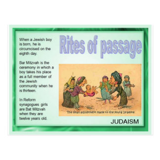 Education, Religion, Judaism, Rites of Passage Postcard