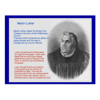 Education, Religion, Martin Luther Postcard