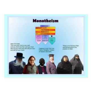Education, Religion, Monotheism Postcard