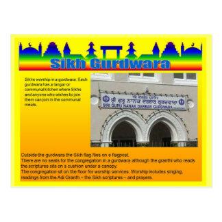 Education, Religion, Sikh Gurdwara Postcard