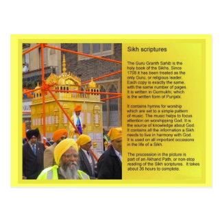 Education, Religion, Sikh Scriptures Postcard