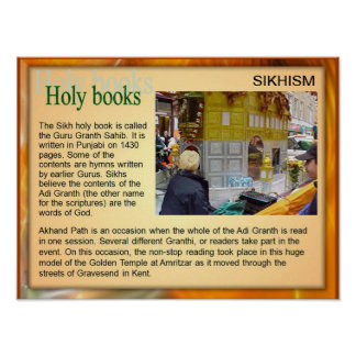 Education, Religion, Sikhism, Holy Books Poster