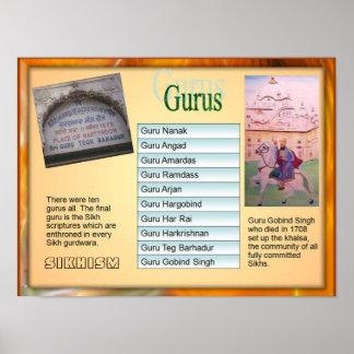 "Education, Religion, Sikhism ""Ten Gurus"" Poster"