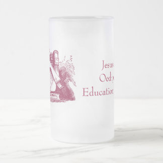 Education Resurrects 16 Oz Frosted Glass Beer Mug