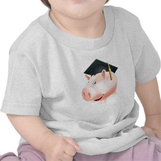 Education savings piggy bank shirts
