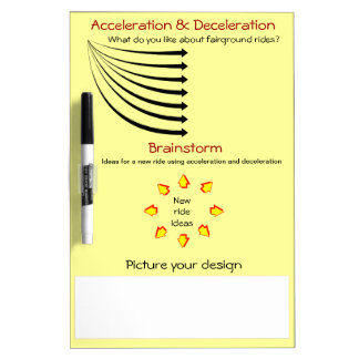 Education, Science, Acceleration, Fairground rides Dry-Erase Boards