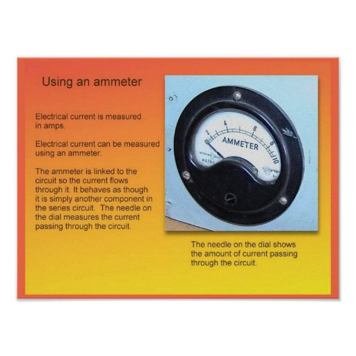 Ammeter For Science : Education science electricity ammeter posters zazzle