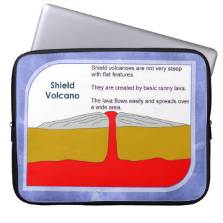 Education, Science, Geography, Shield volcano Laptop Sleeves