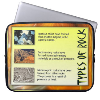 Education, Science, Geology, Types of rock Computer Sleeve