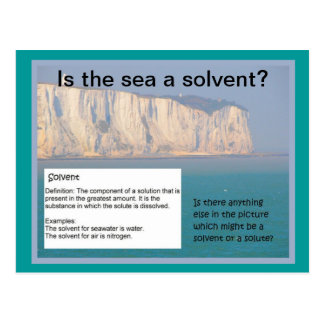 Education, Science, Is the sea a solvent? Postcard