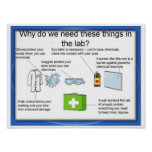 Education, Science, Laboratory safety Poster