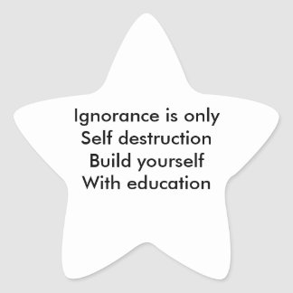 Education Star Stickers