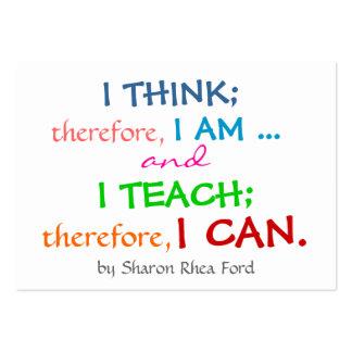 Education Teacher Profile - Business Card by SRF
