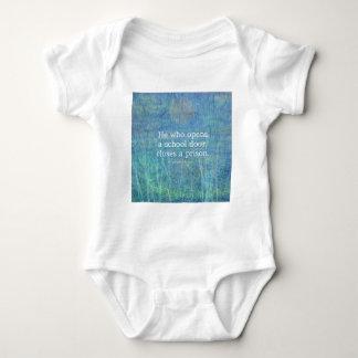 Education teacher teaching quote Victor Hugo Baby Bodysuit