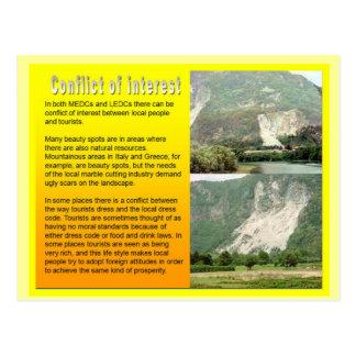 Education, Travel,Tourism, Conflict of interest Postcard