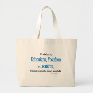 education, vocation and location bags
