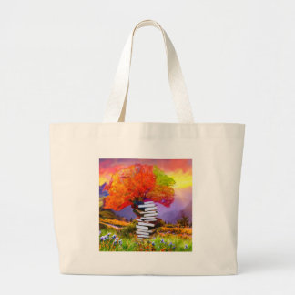 Education will always be the basis of any success. large tote bag