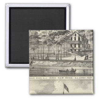 Educational Hall, Asbury Park and River View House Magnet