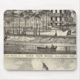 Educational Hall, Asbury Park and River View House Mouse Pad