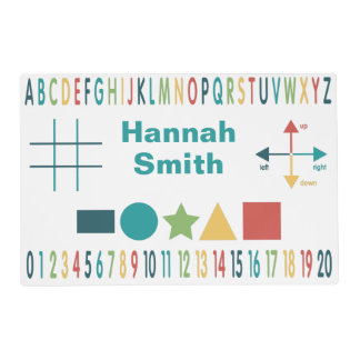 Educational Learning Laminated Placemat