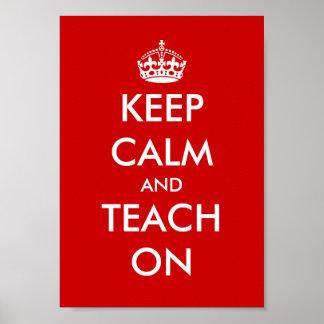 Educational poster Keep calm and teach on