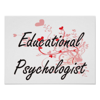 Educational Psychologist Artistic Job Design with Poster