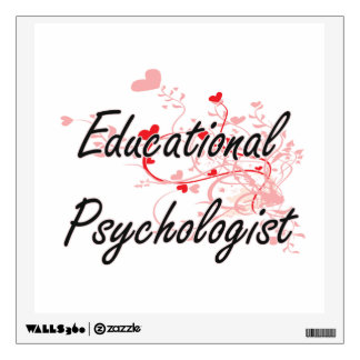 Educational Psychologist Artistic Job Design with Wall Graphic