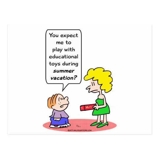 educational toys summer vacation postcard