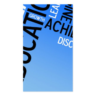 Educational Words Montage Business Cards