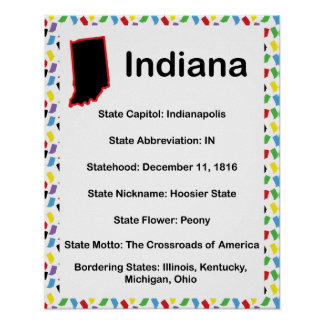 Educativo informativo de Indiana Póster