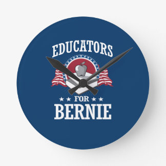 EDUCATORS FOR BERNIE SANDERS ROUND CLOCK