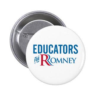 Educators For Romney Pinback Buttons