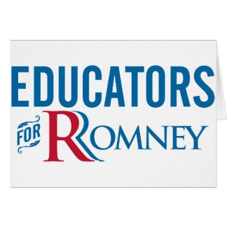 Educators For Romney Card