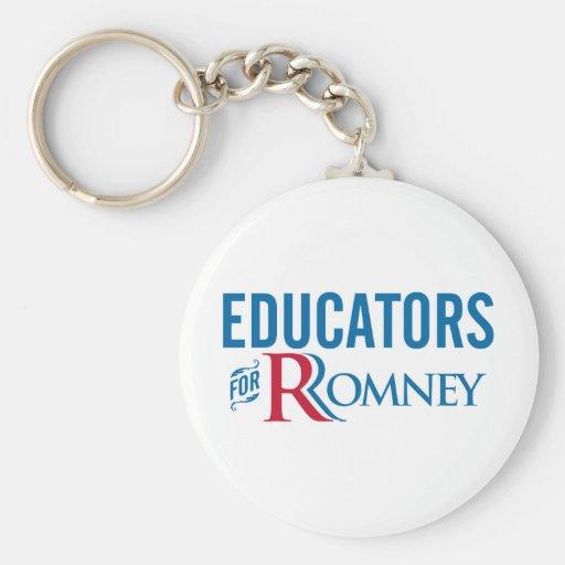 Educators For Romney Keychains