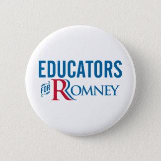 Educators For Romney Pinback Button