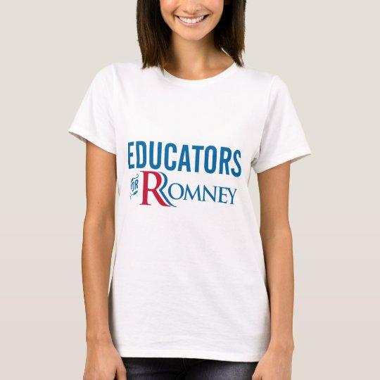 Educators For Romney T-Shirt