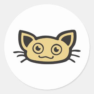 Edulcora gato - Kitty Pegatina Redonda