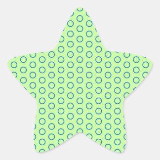 edulcora puntúa pünktchen tocan ligeramente muster pegatina en forma de estrella