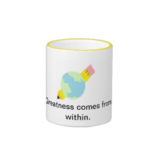 edulogo, Greatness comes from within. Ringer Mug