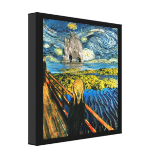 Edvard Meets Vincent Canvas Prints