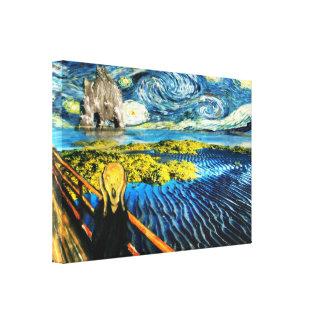 Edvard Meets Vincent Canvas Print