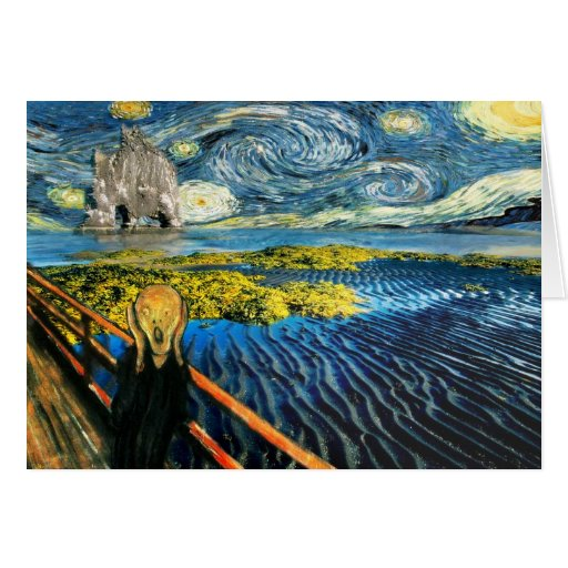 Edvard Meets Vincent Greeting Cards